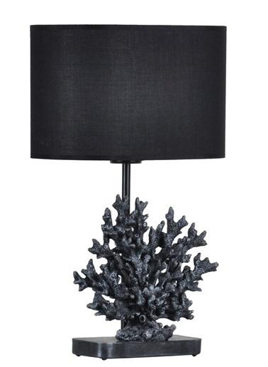 Qdec Modern Dizayn Mercan Abajur  Siyah